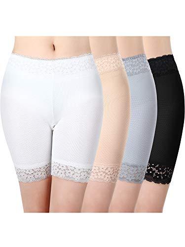 Women Lace Shorts Underwear Yoga Shorts Stretch Safety Leggings Undershorts for Girls (Medium-Large)