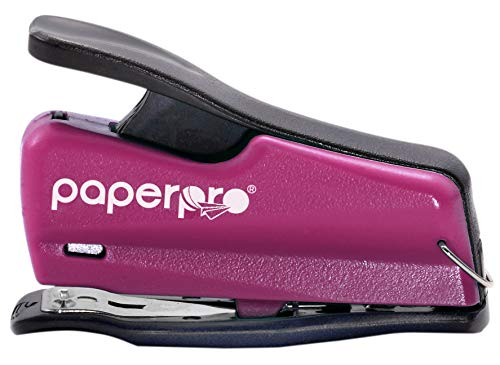PaperPro inJOY 12 Reduced Effort Nano Mini Stapler, 12 Sheets, Pink (1813)