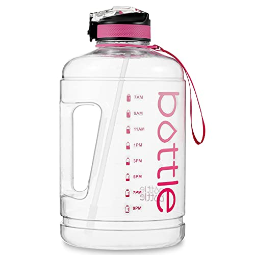 BOTTLE BOTTLE Gallon Water Bottle Motivational with Straw&Big Handle, 128oz/1 Gallon Water Bottle Ensure You Drink Enough Water Daily for any Outdoor/Indoor Activities.
