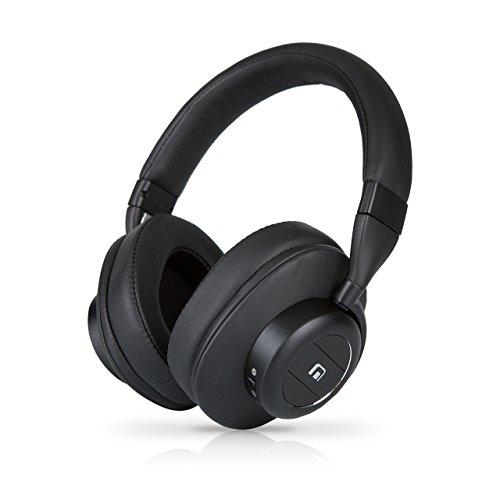 MobiFren Hi Resolution Stereo Sound Apt-X HD Acc Wireless Bluetooth Overhead Headphones with bulit-in External Speaker Mode, Smartphone Mobile App, Sport, Running, Sweat-Proof