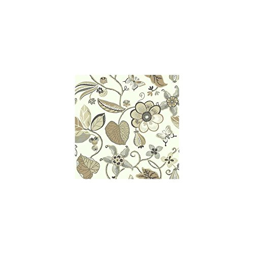 York Wallcoverings New Neutrals Sea Floral Removable Wallpaper, Beiges