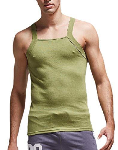 CYJ-shiba Mens Summer Loose Shirt Blouses G-Unit Style Square Cut Tank Top 4 S