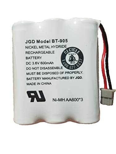 JGD BT-905 BT-800 BBTY0663001 Battery Compatible with Uniden BT905 BT800 BT-1006 BP-905BBTY-0444001 BBTY-0449001 Panasonic P-P501 P-P508 at&T 200 24032 Cordless Telephones