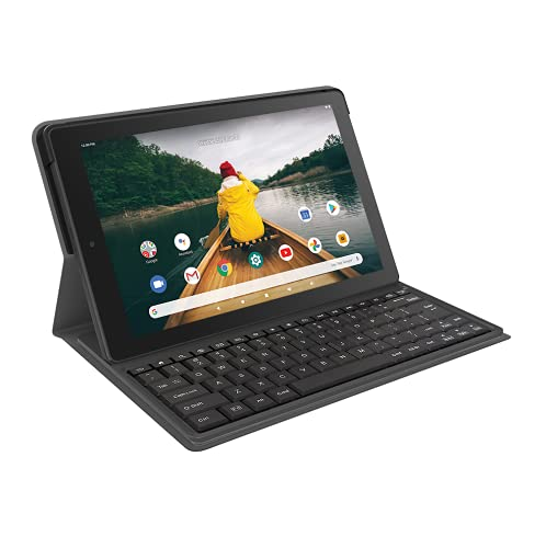 RCA 10' Quad-Core 2GB RAM 32GB Storage Touchscreen WiFi Bluetooth with Detachable Folio Keyboard Android 10 Tablet (Black)
