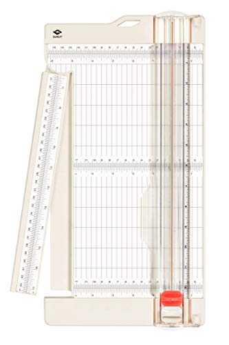 Bira Craft Paper Trimmer and Scorer with Swing-Out Arm, 12' x 6' Base, Craft Trimmer, Trim and Score Board, for Coupons, Craft Paper and Photo