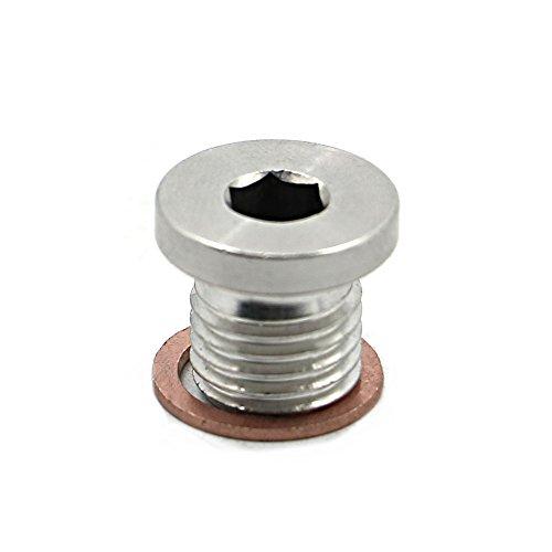 Alpha Rider Crankcase Engine Oil Drain Plug and Washer for Polaris RZR 570 800 900 1000, Sportsman 570 600 700 800 850 1000, Ranger 570 700 800 900 ETX, Scrambler 850 1000, ACE 325 570
