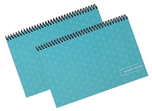 The Superior Check and Debit Card Register - Simple Account Tracker (2-Pack, Teal 2 Pack)