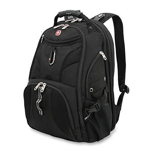SWISSGEAR 1900 ScanSmart Laptop Backpack | Fits Most 17 Inch Laptops and Tablets | TSA Friendly Backpack | Ideal for Work, Travel, School, College, and Commuting- Black