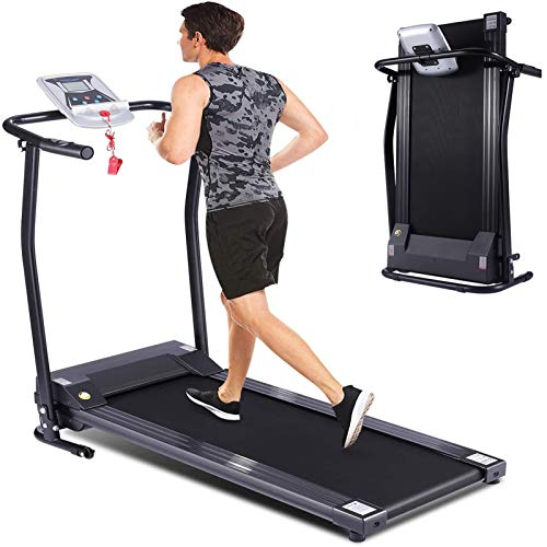 fannay Folding Treadmill for Home, Smart Electric Treadmill with LED Monitor, Safe Handlebar & Safe Key, Portable Walking Running Jogging Exercise Equipment with Fixed Incline & Easy Assemble