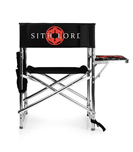 PICNIC TIME Lucas/Star Wars Darth Vader Portable Folding Sports Chair, Black