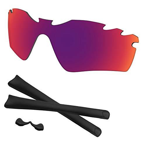 Predrox Midnight Sun Mirror Radar Path Vented Lenses & Rubber Kits Replacement for Oakley Sunglass Polarized