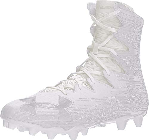 Under Armour Men's Highlight M.C. Lacrosse Shoe, White (100)/Metallic Silver, 11