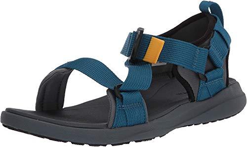 Columbia Men's Sandal, All Terrain, Velcro Straps Sport, Graphite/Phoenix Blue, 7 Regular US