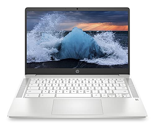 2021 Newest HP Chromebook 14' HD Laptop for Business and Student, Intel Celeron N4000, 4GB RAM, 32GB eMMC, Backlit-KB, Webcam, Fast Charge, WiFi, USB-A&C, Chrome OS,w/128GB SD Card, GM Accessories