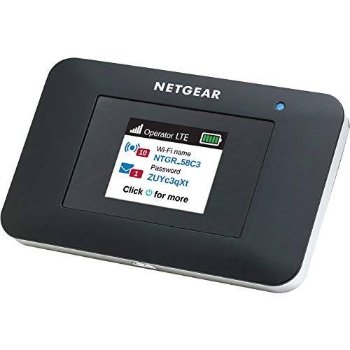 NETGEAR Mobile Wi-Fi Hotspot, 4G LTE Router AC797-100NAS, 400Mbps Download Speed, Connect Up to 15 Devices, Create a WLAN Anywhere, GSM Unlocked