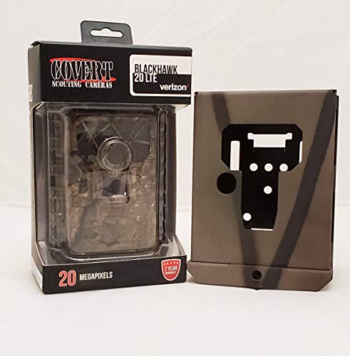2020 Covert Blackhawk LTE Wireless Game Camera 20 MP Verizon Certified 5724 + Camlockbox