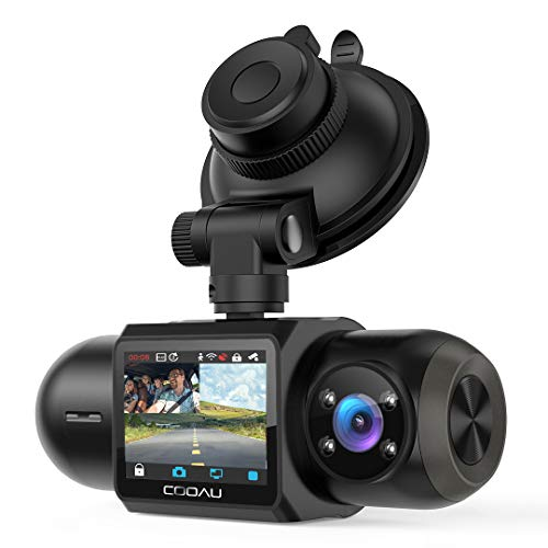 1080P FHD Built-in GPS Wi-Fi Dash Cam, Front and Inside Car Camera Recorder with Infrared Night Vision, Sony Sensor, Supercapacitor, 4 IR LEDs,G-Sensor, Parking Mode, Loop Recording (D30)