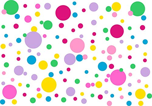 Easu Polka Dots Wall Decals(231 Decals) Circles Dots Wall Decor Removable Vinyl Dot Wall Decals Nursery Room Stickers Kids Wall Decals