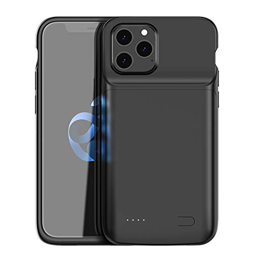 HQXHB Battery Case Compatible with iPhone XR, 5000mAh Ultra Slim Rechargeable Portable Power Charging Case for iPhone XR [6.1 inch] Extended Battery Pack Power Bank Charger Case, Black