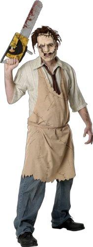 Texas Chainsaw Massacre Leatherface Costume, White, Standard