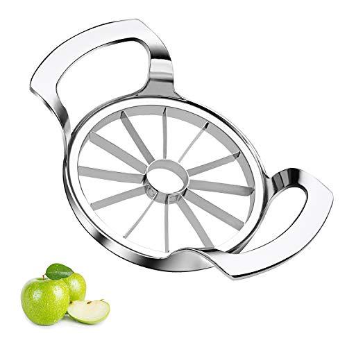 Sinnsally Apple Slicer,12-Blade Large Apple Corer and Slicer,Apple Cutter,Remover,Stainless Steel Ultra-Sharp Fruit Corer Peeler & Slicer,Wedger,Pitter,Decorer Tool,Divider for Up To 4 Inch Apples