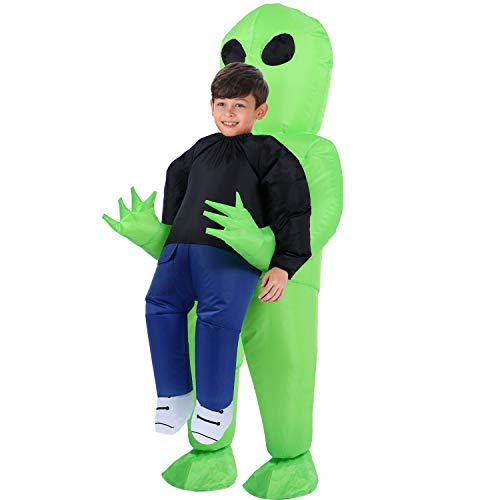 TOLOCO Inflatable Costume | Inflatable Alien Rider Costumes for Child | Halloween Costume Cosplay Party