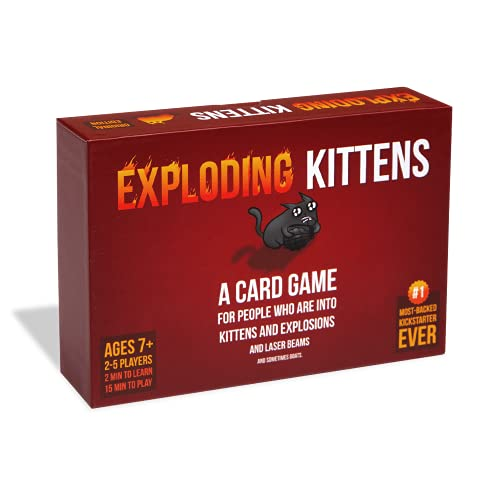 Exploding Kittens - A Russian Roulette Card Game, Easy Family-Friendly Party Games - Card Games for Adults, Teens & Kids - 2-5 Players