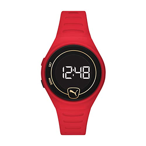 PUMA Unisex Faster Polyurethane Watch, Color: Red (Model: P5047)