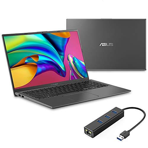 ASUS Vivobook 15 NanoEdge Laptop, 15.6' Full HD, Intel Core i3-1005G1 up to 3.40 GHz, 8GB RAM, 256GB SSD, Backlit KB, FP Reader, USB-C, HDMI, Mytrix Ethernet Hub, Win 10