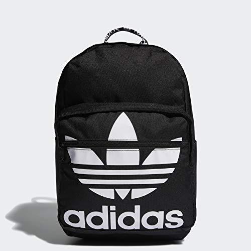 adidas Originals Unisex Trefoil Pocket Backpack, Black/White, ONE SIZE