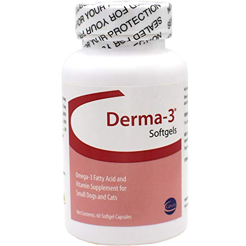 Derma-3 Softgels For Cats and Small Breeds, 60 Softgels