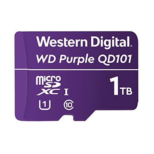 WESTERNDIGITAL SC QD101 Micro SD Card 1TB WD Purple Surveillance Camera WDD100T1P0C