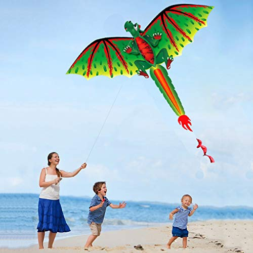 Soluoc Supersize 3D Dragon Kites for Adults, Easy to Fly Kite for Kids Nylon Kite Beach Park and Outdoor Games Toys The Best Kites for Boys and Gir,Kites for Adults