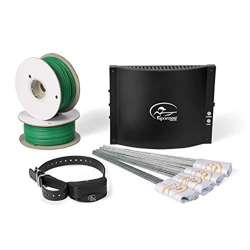 SportDOG Underground Wire Electric Fence - Tone, Vibration, & Static - 100 Acre Capability - Remote Trainer Option