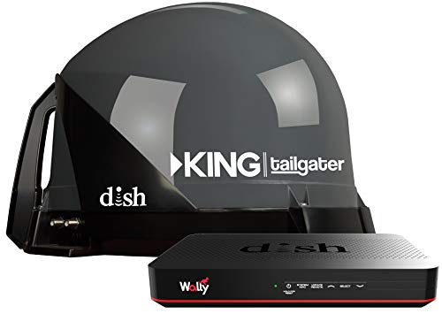 KING VQ4550 Tailgater Bundle - Portable Satellite TV Antenna and DISH Wally HD Receiver