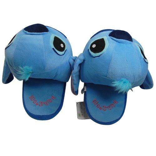 Funny Blue Lilo Stitch Plush Soft Slipper Stuffed Cartoon Collect for Disney Toy