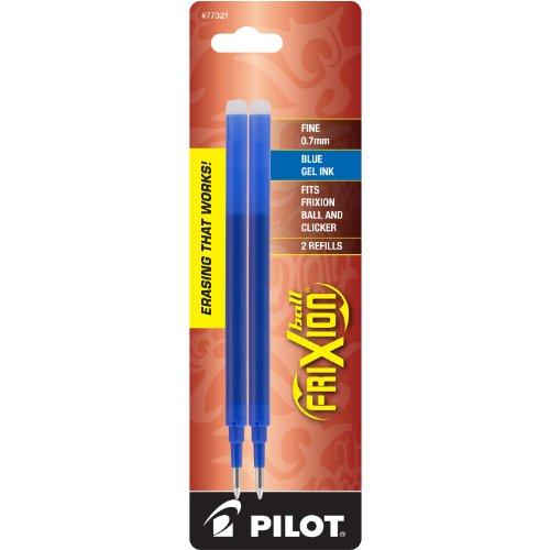 PILOT FriXion Gel Ink Refills for Erasable Pens, Fine Point, Blue Ink, 2-Pack (77321)