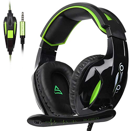 OMJNH Gaming Headset for PS4 Stereo Headphone Gaming Folding mic Headset with Gaming Microphone Headphone