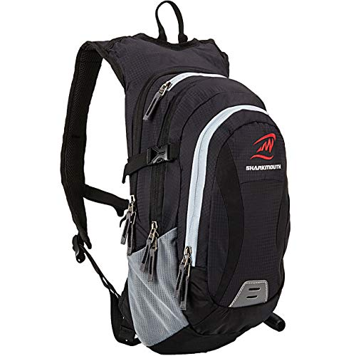 SHARKMOUTH Hiking Hydration Backpack Pack with 2.5L BPA Free Water Bladder, Roomy and Comfortable for Long Day Hikes, Day Trips, Daypack Travel and Journey, Black