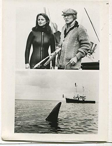 Charlotte Rampling Richard Harris- Orca 1978 CBS TV press photo MBX55