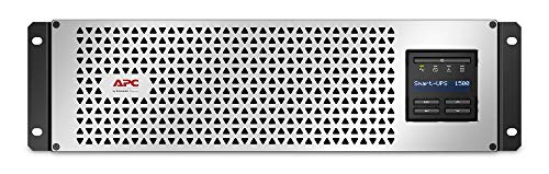 APC Smart-UPS 1500VA Lithium Ion UPS with SmartConnect, SMTL1500RM3UC, Pure Sine Wave, Short-Depth 120V Uninterruptible Power Supply