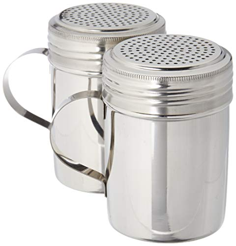 Great Credentials Stainless Steel Versatile Dredge Shaker, Salt, Sugar, Shakers 10 Oz. Each Set of 2