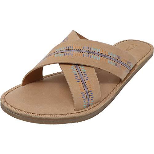 TOMS Womens Viv Casual Sandals Shoes, Beige, 10