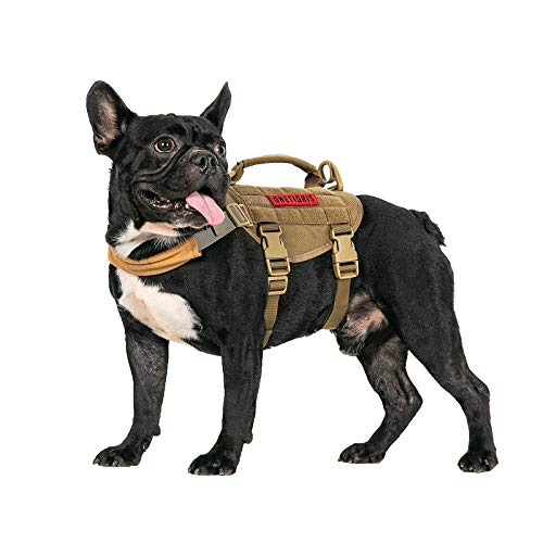 OneTigris Dog Vest Harness,Tactical Dog Harness with Durable Vertical Handle for Small Medium Puppy Dog (XS:(Neck:11'-17') (Chest:15'-22')