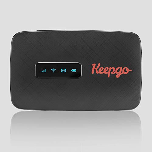 Keepgo GoFi Mobile Travel WiFi Hotspot, 2G/3G/4G LTE, USA and Europe, Monthly No Contract Plan, Portable Pocked-Sized Router, Up to 15 Connected Wireless Devices