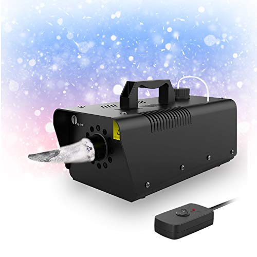 1byone 650W Snow Machine Wired Remote Control Great Machine for Kids, Parties, Parades