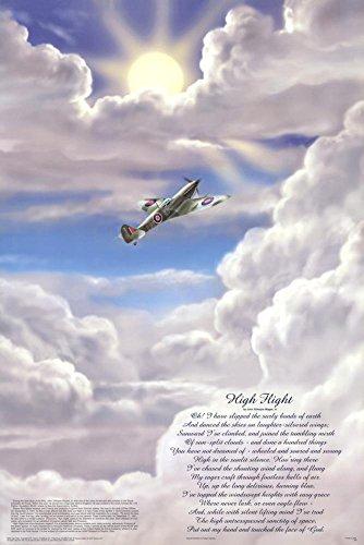Feenix Publishing High Flight Poem Military Educational Chart Poster 24 x 36in