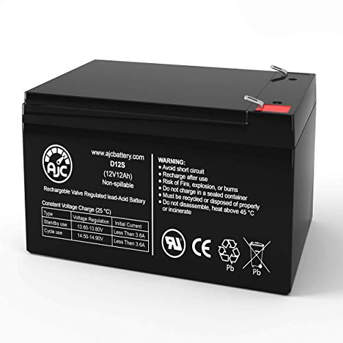 Super Turbo 800 Elite 12V 12Ah Electric Scooter Battery - This is an AJC Brand Replacement