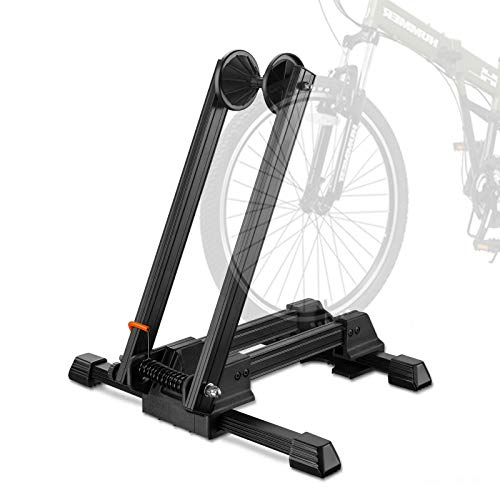 ZEVET Floor Bike Stand Portable Indoor Parking Rack Bicycle Wheel Holder for Garage Home Mountain and Road Bikes
