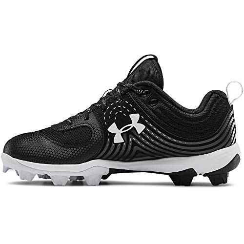 Under Armour womens Glyde Rm Softball Shoe, Black/White, 10.5 US